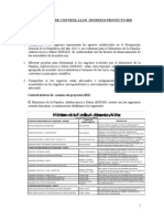 Memorandum Ingresos Proyectos