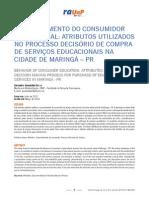 COMPORTAMENTO DO CONSUMIDOR EDUCACIONAL