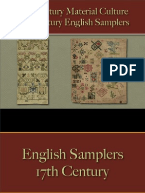 Household - Samplers - English 17th Century   Embroidery