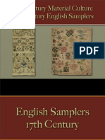 Decorative Arts - English Samplers 17th Century