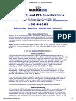 Boedeker Plastics _ PTFE, FEP, And PFA Datasheet