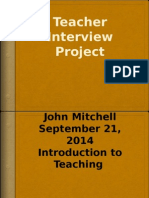 finished-teacher interview project j mitchell