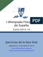 Ejercicios Premiados-Olimpiada de Filosofía Española-2014