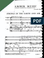 Berio - Chamber Music (Score)