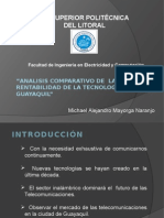 Analisis Comparativo de La Operacion y Rentabilidad de La Tecnologia Wimax en Guayaquil
