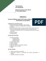 Tematica Examen de Diploma 2013 - Autovehicule Rutiere