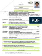 CV Jordan Rey - Ingénieur Chimie Verte & Biotechnologie
