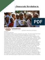 Sri Lanka a Democratic Revolution in the Making
