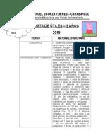 Lista de Útiles 2015