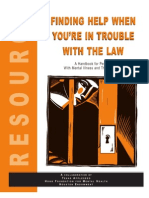 Finding Help When You'Re in Trouble With the Law - HB for Persons With Psychiatric Diagnoses