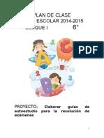 6o Plan de Clase 2014-2015