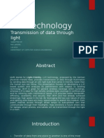 Li-Fi Technology Transmission of Data Through Light