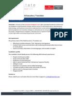 Fieldwork Executive / Translator