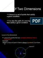 Locus of Two Dimensions