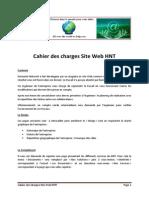 cahier des charges site web hnt