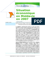 Situation Economique en Moldavie en 07