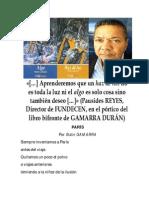 Gamarra Con Su Poema «París» (2014)