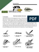 Mantaray Installation Instructions