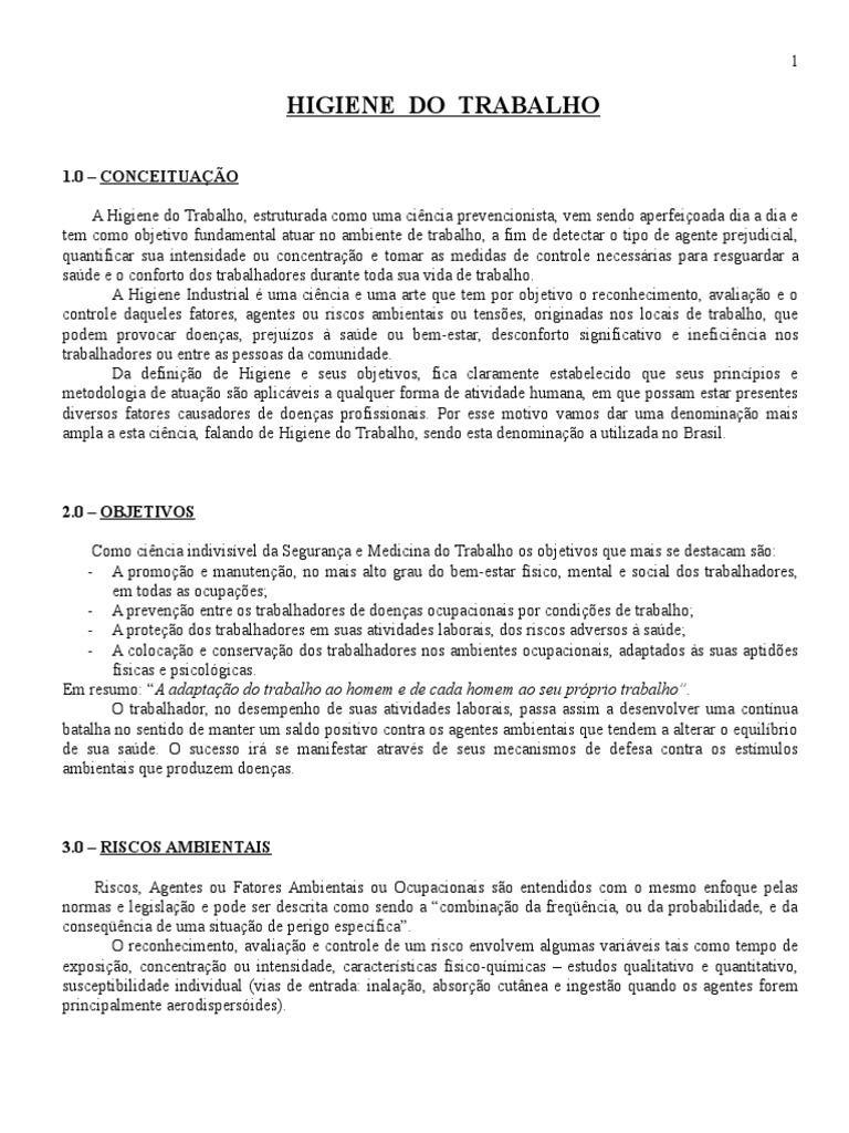Higiene Do Trabalho - Apostila eba5e1c75a