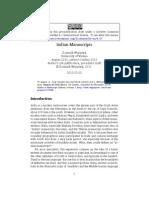 Indian Manuscripts Final Tex Version Libre