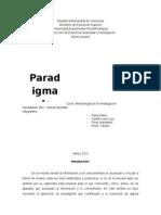 Informe de Paradigma de Investigacion
