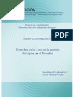 Derechos Colectivos en La Gestión Del Agua en Ecuador