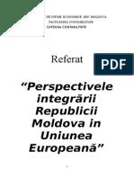 Perspectivele Integrarii Republicii Moldova in Uniunea Europeana