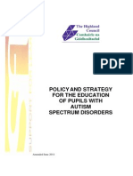 Autism Policy and Education Strategy