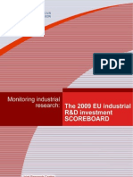 The 2009 EU Industrial R&D investment scoreboard