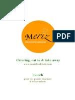 meriz fresh food menu bara