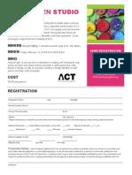 ACT Adult Open Studio Flier & Registration