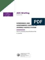 AOC Briefing 2012 Juvenile Sex Offender Risk