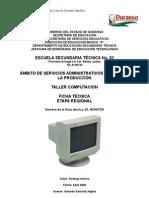 Análisis de Objeto Técnico El Monitor de Computadora