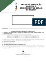 vestibular UEM Musica