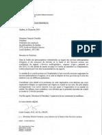 Nomination représentant Comité transition implantation