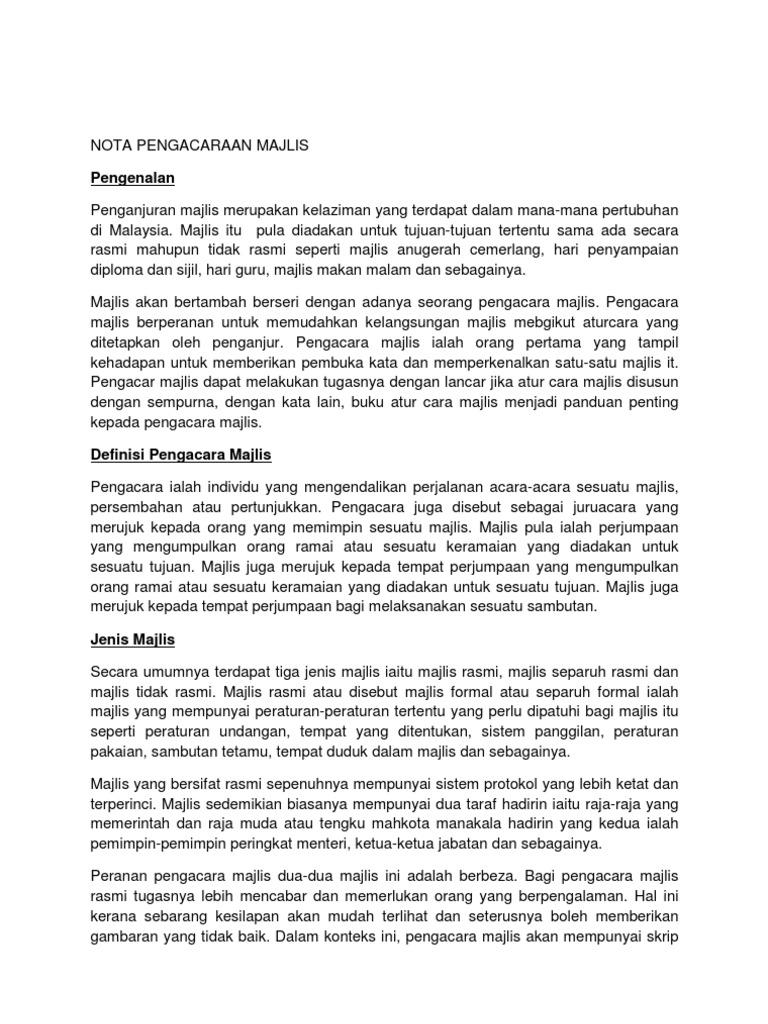 Teks Pengacara Majlis Formal Rumah Akane