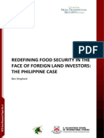 Shepherd - Redefining Food Security in the Face of Foreign Land Investors; The Philippine Case