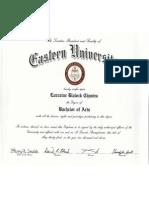 eastern university - degree