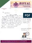 Royal Request Letter