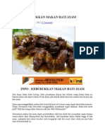 Info Makan Hati Ayam