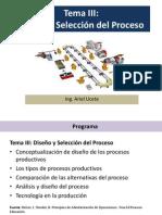 Tema III- Diseño y Selección Del Proceso