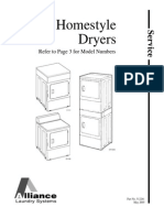 Speed Queen Dryer Service Manual 512261-Alliance-Homestyle-Dryers