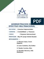 Administracion Del Efectivo Multinacional