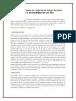 Sulfato de Magnesio en Mujeres en Riesgo de Parto Prematuro Para La Neuroproteccion Del Feto