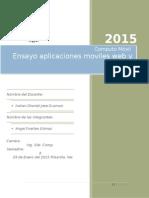 Ensayo Apps Moviles Web y Nativas