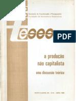 A Produção Não Capitalista