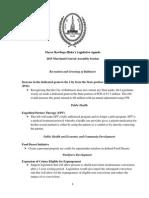 Baltimore City 2015 Legislative Prioritites