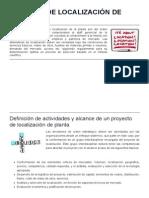 Métodos de Localización de Planta - Ingeniería Industrial