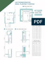 Planos Ascensores Electromecanicos Sala de Maquinas Plantas y Cortes