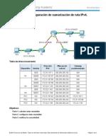 6.4.1.5 Packet Tracer - Configuring IPv4 Route Summarization - Scenario 1 Instructions (1)